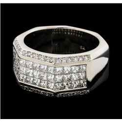 3.50 ctw Diamond Ring - 14KT White Gold