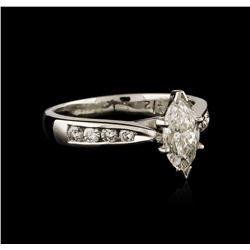 Platinum 0.92 ctw Diamond Ring