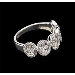 0.97 ctw Diamond Ring - 14KT White Gold