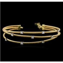 0.41 ctw Diamond Bangle Bracelet - 14KT Yellow Gold