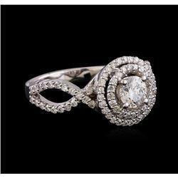 1.16 ctw Diamond Ring - 14KT White Gold