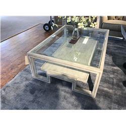 LEXINGTON HARPER GLASS TOP COCKTAIL TABLE, ITEM LEX-01-0714-943