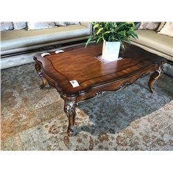 PARISIAN STYLE SOLID MAHOGANY COFFEE TABLE, ITEM ORL-4905