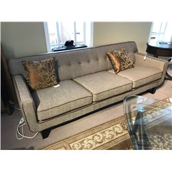 LIVING ROOM SET INCLUDING KUKA CONTEMPORARY SOFA AND LOVE SEAT, AND ROUND END TABLE,