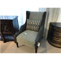 ART GREY AND BROWN FABRIC PATTERNED ACCENT CHAIR, ITEM ART-161-514-5038-AA