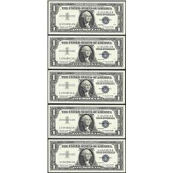 Lot of (5) Consecutive 1957A $1 Silver Certificate Notes