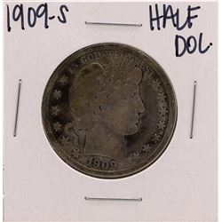1909-S Barber Liberty Head Half Dollar Coin