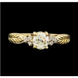 14KT Yellow Gold 0.78 ctw Diamond Ring