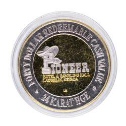 .999 Silver Pioneer Hotel & Gambling Laughlin $40 Casino Limited Edition Gaming