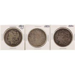 Lot of 1884-O, 1885 & 1886 $1 Morgan Silver Dollar Coins