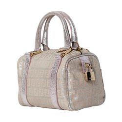 Fendi Metallic Zucca Mini Boston Boulotto Bag