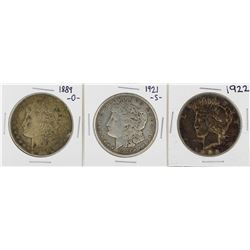 Lot of (3) $1 Silver Dollar Coins