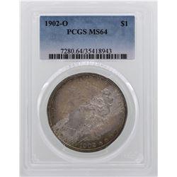 1902-O $1 Morgan Silver Dollar Coin PCGS MS64 NICE TONING