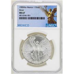 1985Mo Mexico Libertad Onza Silver Coins NGC MS67
