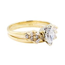 14KT Yellow Gold 0.78 ctw Diamond Ring and Band