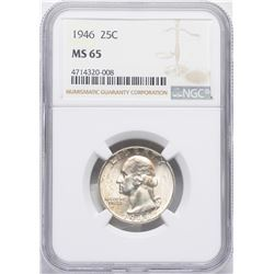 1946 Washington Quarter Coin NGC MS65