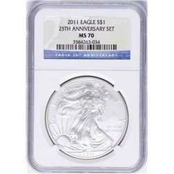 2011 $1 American Silver Eagle Coin NGC MS70