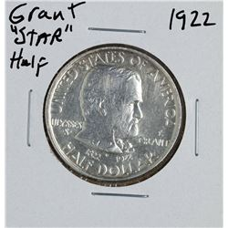 "1922 Ulysses S. Grant ""Star"" Commemorative Half Dollar Coin"