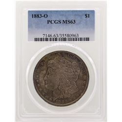 1883-O $1 Morgan Silver Dollar Coin PCGS MS63 Nice Toning