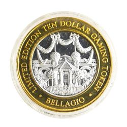 .999 Silver Bellagio Las Vegas, NV $10 Casino Limited Edition Gaming Token