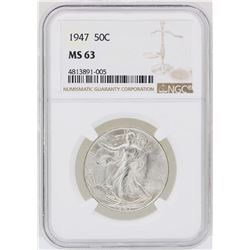 1947 Walking Liberty Half Dollar Coin NGC MS63