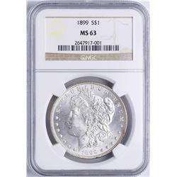 1899 $1 Morgan Silver Dollar Coin NGC MS63
