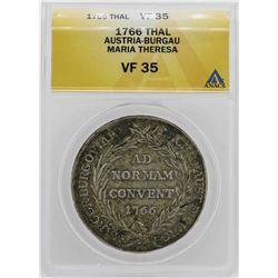 1766 Austria-Burgau Thaler Coin ANACS VF35