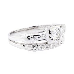 18KT White Gold 0.35 ctw Diamond Ring and Band