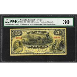 1935 $20 Bank of Toronto, Canada Note PMG Very Fine 30