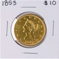 1853 $10 Liberty Head Eagle Gold Coin