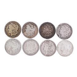 Lot of (8) Pre 1921 $1 Morgan Silver Dollar Coins