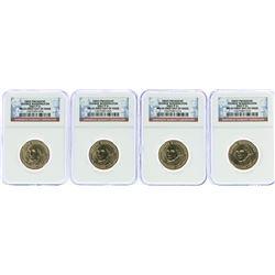 Lot of (4) 2007-P George Washington Presidential Dollar Coins NGC MS65 FDOI
