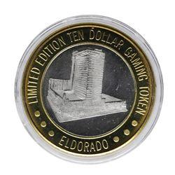 .999 Silver Eldorado Hotel & Casino $10 Casino Limited Edition Gaming Token