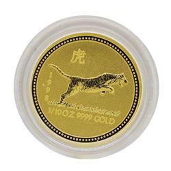 1998 $15 Australia Lunar Year of the Tiger 1/10 oz. Gold Coin