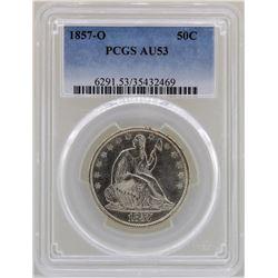 1857-O Liberty Seated Half Dollar Coin PCGS AU53