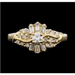10KT Yellow Gold 0.65 ctw Diamond Ring