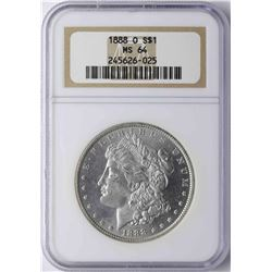 1888-O $1 Morgan Silver Dollar Coin NGC MS64
