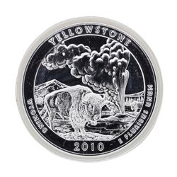 2010 5oz Silver ATB Yellowstone Wyoming Silver Coin