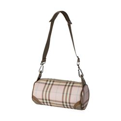Burberry Pink Nova Check Barrel Shoulder Bag