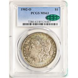 1902-O $1 Morgan Silver Dollar Coin PCGS MS63 CAC AMAZING TONING