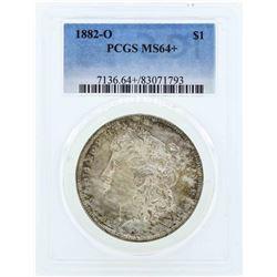 1882-O $1 Morgan Silver Dollar Coin PCGS MS64+