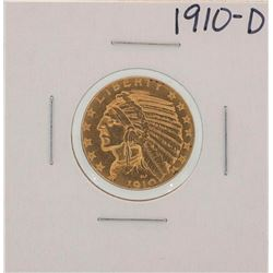1910-D $5 Indian Head Half Eagle Gold Coin