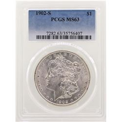 1902-S $1 Morgan Silver Dollar Coin PCGS MS63