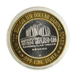 .999 Silver Westward Ho Casino Las Vegas $10 Casino Limited Edition Gaming Token