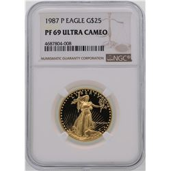1987-P $25 American Gold Eagle Coin NGC PF69 Ultra Cameo