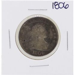 1806 Pointed 6 Draped Bust Quarter Coin