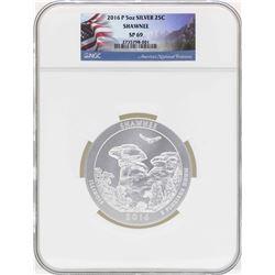 2016P 5oz ATB Shawnee Illinois Silver Coin NGC SP69