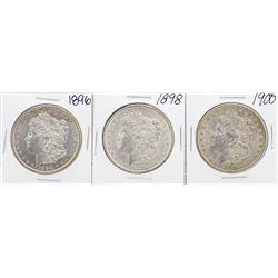 Lot of 1896, 1898, 1900 $1 Morgan Silver Dollar Coins