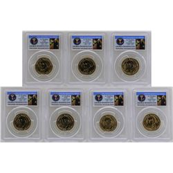 Lot of (7) 2007-P $1 George Washington Presidential Dollar Coins PCGS Brilliant