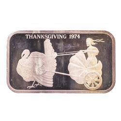 1974 Thanksgiving Madison Mint 1 oz .999 Fine Silver Art Bar